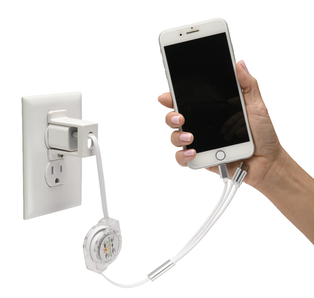 USB phone charger lock